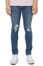 Topman Men's Ripped Stretch Skinny Jeans