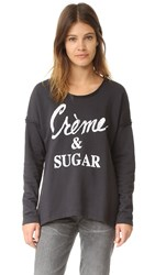 Sol Angeles Cream And Sugar Pullover Black