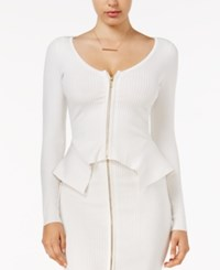 Guess Ayanna Asymmetrical Zip Front Sweater Scuffy