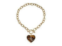 Guess Heart Toggle Chain Necklace Gold Tortoise Crystal Necklace
