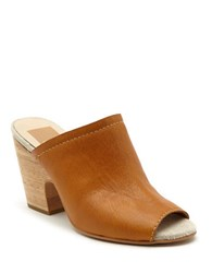 Dolce Vita Tegan Leather Clogs Caramel