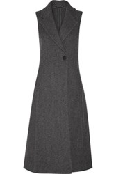 Theory Tremayah Wool Blend Gilet Charcoal