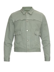 Maison Kitsune Harry Patch Pocket Cotton Drill Jacket Grey