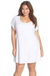 Becca Etc 'Twist And Turns' Cover Up Tunic Plus Size White
