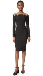 Thierry Mugler Off The Shoulder Dress Black