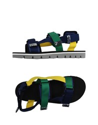Msgm Footwear Sandals Men Dark Blue