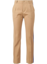 Bouchra Jarrar Piped Tailored Trousers Brown