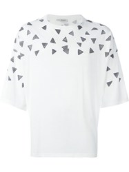 Saint Laurent Triangle Print T Shirt White