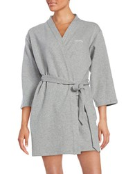 Calvin Klein Short Textured Robe Grey