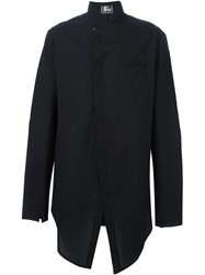 Lost And Found Ria Dunn 'Shifted Front' Asymmetric Button Down Shirt Black
