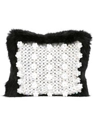 Shrimps Faux Fur Clutch Black