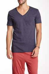 Bottoms Out V Neck Short Sleeve Tee Blue