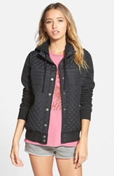Rvca 'Regulate' Quilted Jacket Aged Black