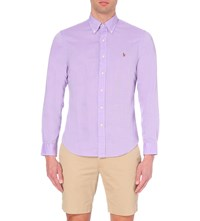 Ralph Lauren Slim Fit Cotton Oxford Shirt Purple