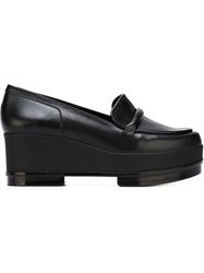 Robert Clergerie 'Yokole' Platform Loafers Black