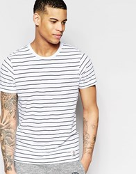Franklin And Marshall Franklin And Marshall Crew Neck T Shirt With Stripe White