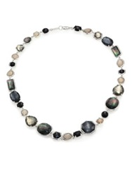 Ippolita Rock Candy Black Tie Semi Precious Multi Stone And Sterling Silver Mixed Collar Silver Multi