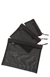 Men's Sons Of Trade 'Assignment Kit' Zip Mesh Storage Bags Black Heathered Black