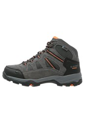 Hi Tec Hitec Bandera Ii Wp Walking Boots Charcoal Graphite Burnt Orange Grey