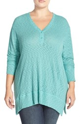 Plus Size Women's Sejour V Neck Dolman Sleeve Tee