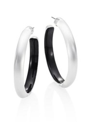 Alexis Bittar Large Lucite Hoop Earrings 2 Clear