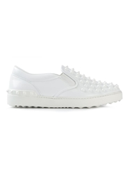 Valentino Garavani 'Rockstud' Slip On Sneakers White
