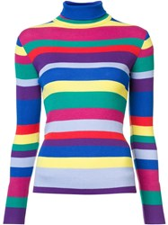 Mira Mikati Striped Turtleneck Sweater Multicolour