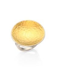 Gurhan Hourglass 24K Yellow Gold And Sterling Silver Cocktail Ring Silver Gold