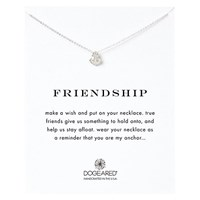 Dogeared Friendship Anchor Pendant Necklace Silver