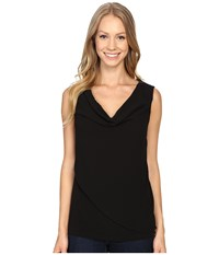 Calvin Klein Sleeveless Top W Chiffon Wrap Black Women's Sleeveless