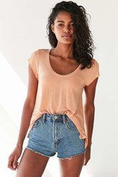 Truly Madly Deeply Madison Scoop Tee Orange