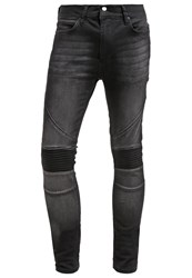 Religion Crypt Slim Fit Jeans Washed Black