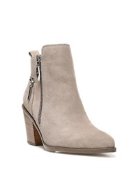 Fergie Bianca Suede Ankle Boots Taupe