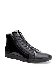 Calvin Klein Berke Patent Leather Sneakers Black
