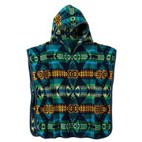 Pendleton Jacquard Hooded Towel Turquoise