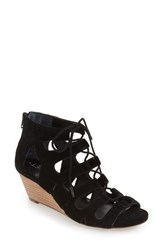 Women's Sole Society 'Freyaa' Wedge Sandal Black Suede