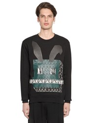Mcq By Alexander Mcqueen Electro Bunny Cotton Fleece Sweatshirt