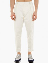 Edwin Natural Cotton Pleated Trousers
