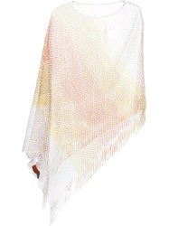 Missoni Fringed Poncho Yellow And Orange