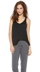 Feel The Piece V Layering Tank Black