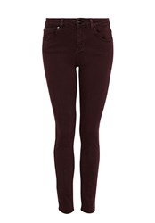 Hallhuber Skinny Jeans With Aged Dye Effect Red