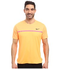 Nike Challenger Crew Bright Citrus Fire Pink Black Men's T Shirt Yellow
