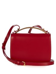 Marni Sculpture Leather Cross Body Bag Red