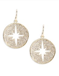 Theodora And Callum Pave Chandelier Earrings Gold