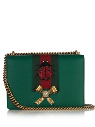 Gucci Peony Leather Shoulder Bag Green Multi