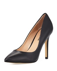 Neiman Marcus Prestige Leather Pointed Toe Pump Black