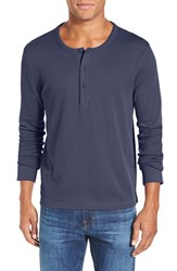 Men's Wallin And Bros. 'Kinison' Trim Fit Long Sleeve Henley Navy Indigo