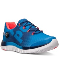 Reebok Men's Zpump Fusion Running Sneakers From Finish Line Cycl Blue Club Blue Neon
