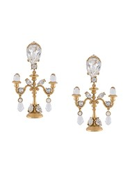 Dolce And Gabbana Chandelier Clip On Earrings Metallic