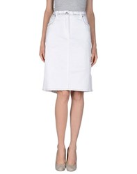 Gianfranco Ferre Ferre' Denim Denim Skirts Women White